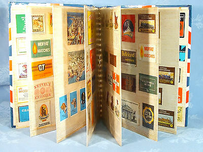 Album Of Match Box Labels / Covers.  Collection Of Approx 200. A Good Mixed Lot