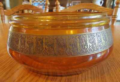 """MOSER SIGNED FRIEZE TABLE CENTERPIECE Karlsbad c1918-1922 9"""" IN DIAMETER"""