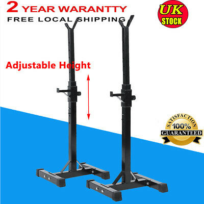 New! Black Heavy Duty Gym Squat Barbell Power Rack Adjustable Press Weight Bench