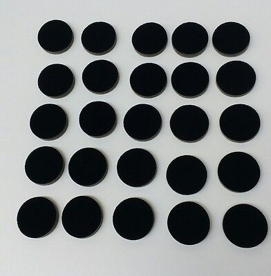 44mm diameter flocked foam. 8mm thick x 25 pieces