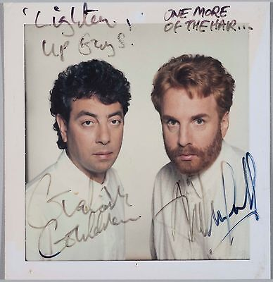 Autographed Signed Original Polaroid of Wax Graham Gouldman 10cc and Andrew Gold