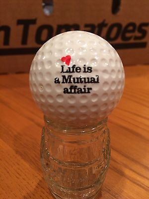 Life Is A Mutual Affair Logo Golf Ball, Old Vintage