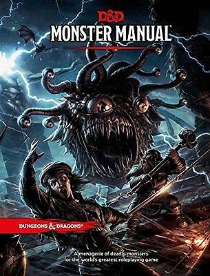 RPG - D&D Dungeons and Dragons Monster Manual  5th Edition NEW!