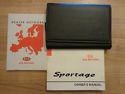 Kia Sportage Owners Handbook/Manual and Wallet 99-03