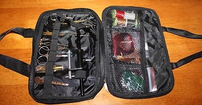 Fly Tying Carry Kit with materials, tools and vice Fishing FREE POST