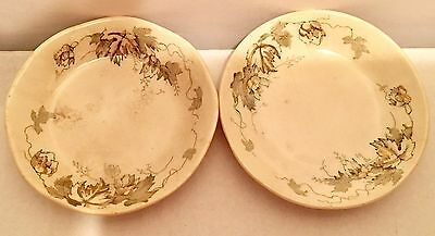 Ironstone Alfred Meakin Butter Pats Set of 2 Spray Kenwood IN GREAT SHAPE