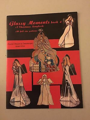 Glassy Moments Book 4 Christmas Songbook Full Size Patterns Angels Stained Glass