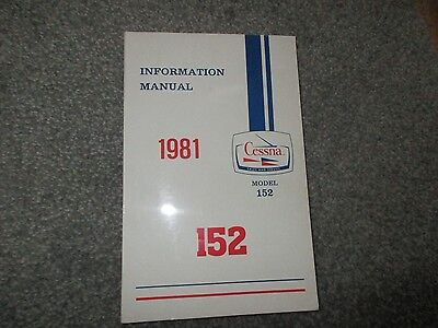 *1981 CESSNA 152 INFORMATION MANUAL -Never Used