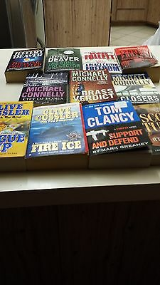 Lot of 11 mysteries Deaver, Cussler, Connelly, Clancy  PB