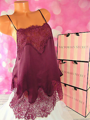Victorias Secret Wicked Satin and Lace Slip XL Ruby Wine