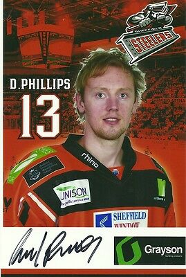 David Phillips - Sheffield Steelers - Autographed Photograph .