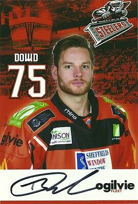 Robert Dowd - Sheffield Steelers - Autographed Photograph .