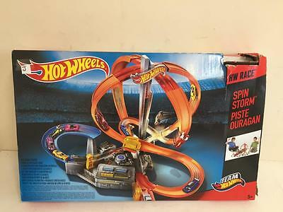 Hot Wheels Spin Storm Track Set USED GOOD CONDITION J