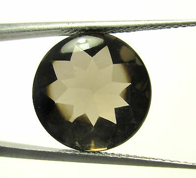 6.50Cts 1 Piece Natural Smoky Quartz Loose Gemstone Round Buff Top Cut 13 MM S50
