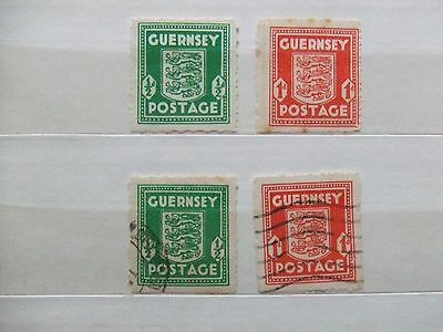 Guernsey wartime 1/2d & 1d mint & used