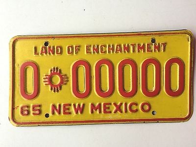New Mexico 1965 Sample Vintage License Plate Garage Old Car Auto Tag Enchantment