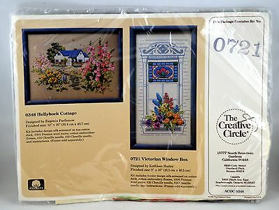 Vtg 1988 The Creative Circle Embroidery Kit 0721 Victorian Window Box