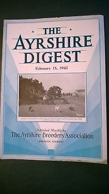 Ayrshire Digest 1942 Dairy Cattle Breed Magazine - Many Great Features
