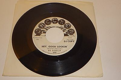 BO DIDDLEY HEY, GOOD LOOKIN' / YOU AIN'T BAD 1965 CHECKER 1st USA DJ PROMO 7""