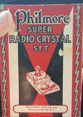 Vintage Philmore super radio crystal set with box