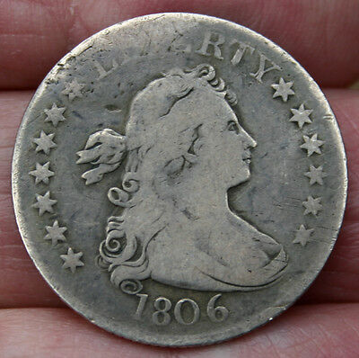 1806 Draped Bust Quarter Nice Natural Color Great Example