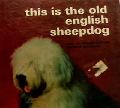 This is the Old English Sheepdog - Vintage TFH 1974 Dog Book - ps-702