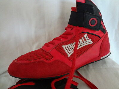Lonsdale Red Boxing Boots-Uk 9-Light Use