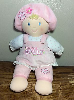 Gund My First Dolly Blonde Stuffed Doll Embroidered Eye Nose Plush Baby Toy Soft