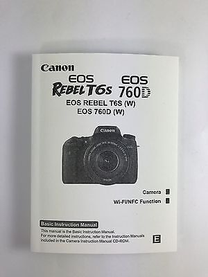 Canon REBEL T6s EOS 760D Genuine Instruction Owners Manual Book Original NEW