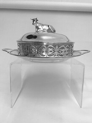 A VICTORIAN SILVER BUTTER DISH & COVER LONDON 1882 by CHARLES BOYTON