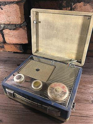 Vintage Pye Attache Case Valve Radio 1950s Unrestored For Display Spares Repairs
