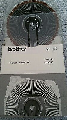 Brother CASSETTE DAISY WHEEL ENGLISH QUADRO 15