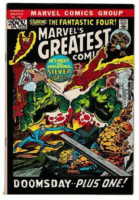 High Grade Marvel Comic Book: 1971 Marvels Greatest #37 Silver Surfer FF (B031)