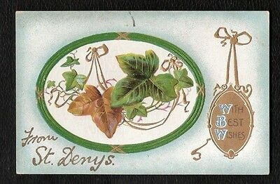 Southampton St Denys Embossed Best Wishes Greetings Postcard