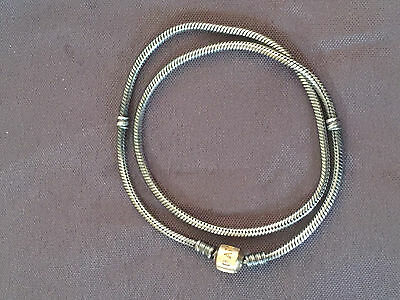 Authentic Pandora 14ct Gold & 925 Sterling Silver 43 cm