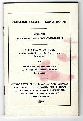 Railroad Safety - Long Trains, Petition for Promulgation and Enforcement
