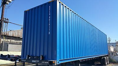 40' High Cube Shipping Ocean Container NEW Blue
