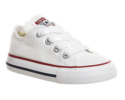 Kids Converse All Star Low Infant Shoes WHITE Kids