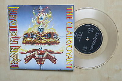 "IRON MAIDEN The Clairvoyant UK 7"" clear vinyl in poster picture sleeve EMI EMS79"