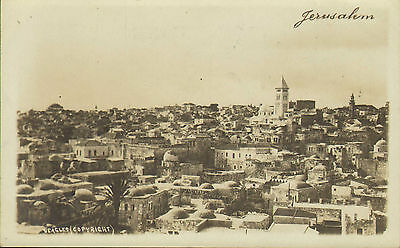 1918 postcard (printed photo type ? )  - jerusalem . beagles copyright