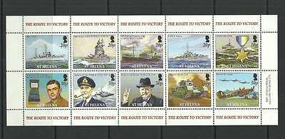 St Helena Sg946A-955 60Th Anniv Of End Of Ww2 Mnh