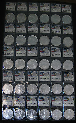 *hs*usa American Silver Eagle Complete Collection 1986 To 2015 X 30 Ounces