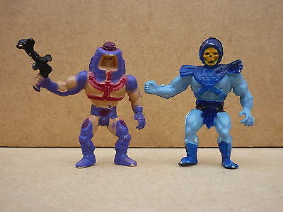 Vintage 1980s Masters of The Universe MOTU Man-E-Faces & Skeletor Pencil Toppers