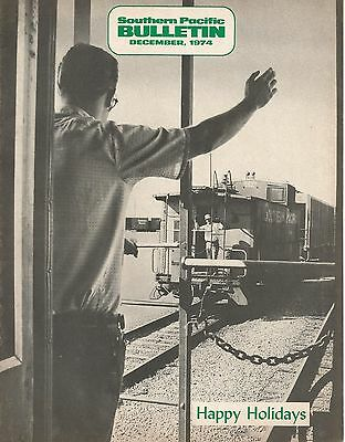 Southern Pacific Bulletin. Employee Magazine. December 1974.  Oo N Reference