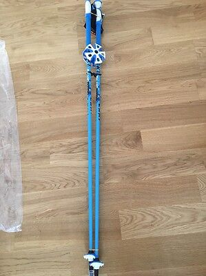 Leki Ski Poles BLUEBIRD CARBON S 120cm..Trigger S straps and baskets  INCLUDED