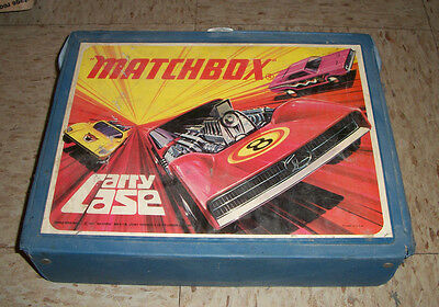1970s MATCHBOX LESNEY Carry Case w 45 cars 1970s 1980s VW bug Sports cars more