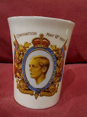 Rare Commemorative Beaker Coronation King Edward Viii Abdicated