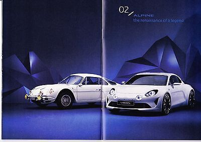 ALPINE 2016 press depliant /  Prospekt / brochure / catalog ** VERY RARE **