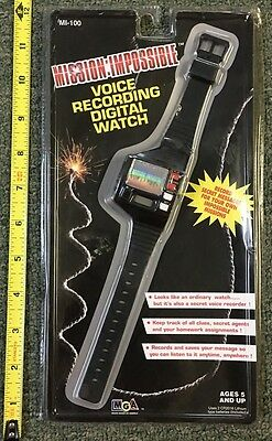1996 *mission:impossible* Toy Sealed/ Pkg *nos* Voice Recording Digital Watch