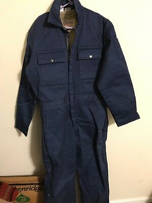 NWOT WALLS Blizzard Pruf insulated BLUE coverall WARM! USA Large Tall